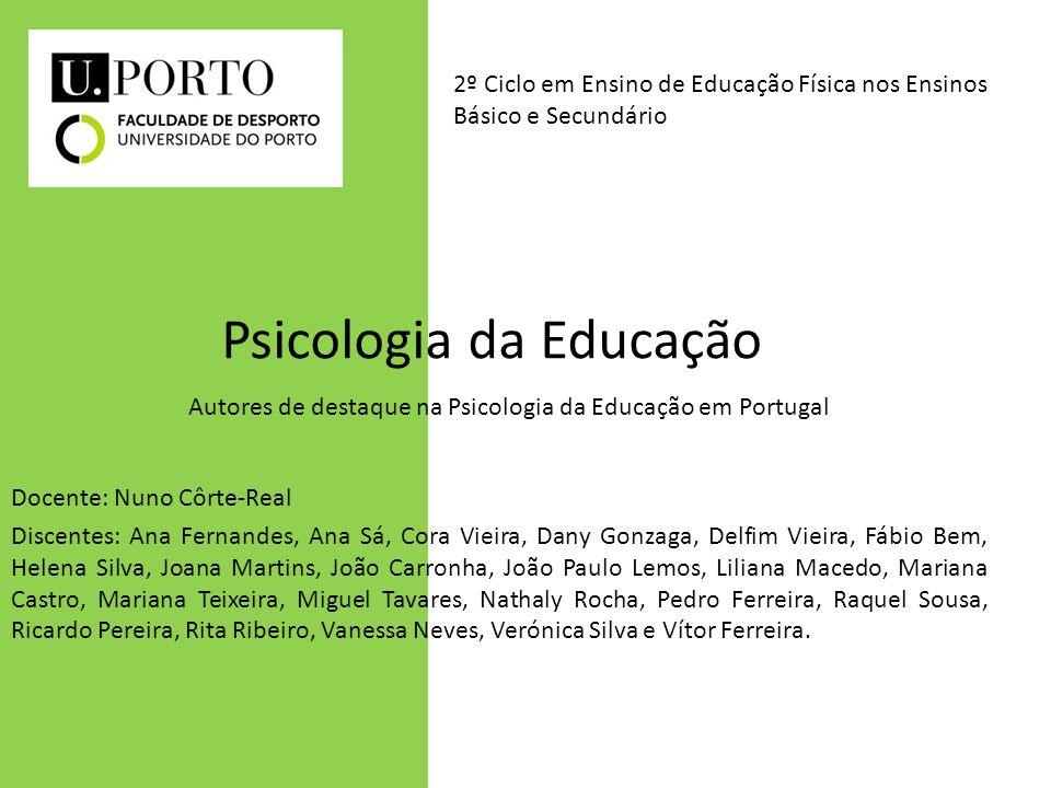 Psicologia da Educação Docente: Nuno Côrte-Real Discentes: Ana Fernandes, Ana Sá, Cora Vieira, Dany Gonzaga, Delfim Vieira, Fábio Bem, Helena Silva, J