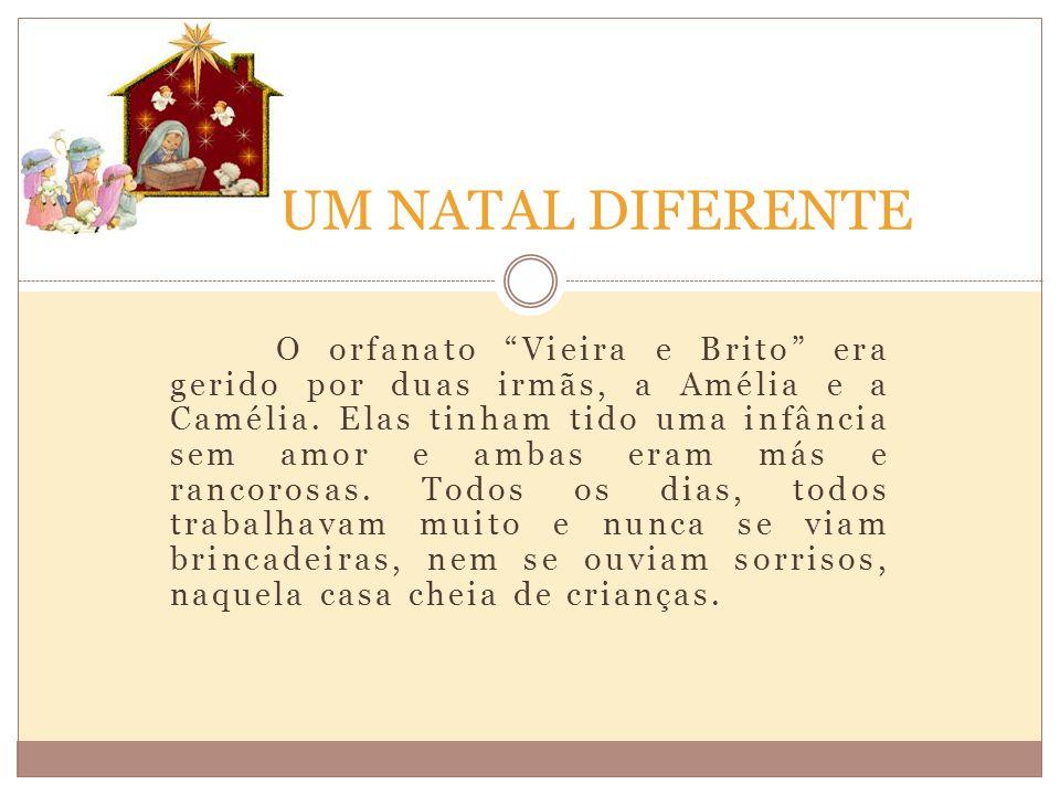 """O orfanato """"Vieira e Brito"""" era gerido por duas irmãs, a Amélia e a Camélia. Elas tinham tido uma infância sem amor e ambas eram más e rancorosas. Tod"""
