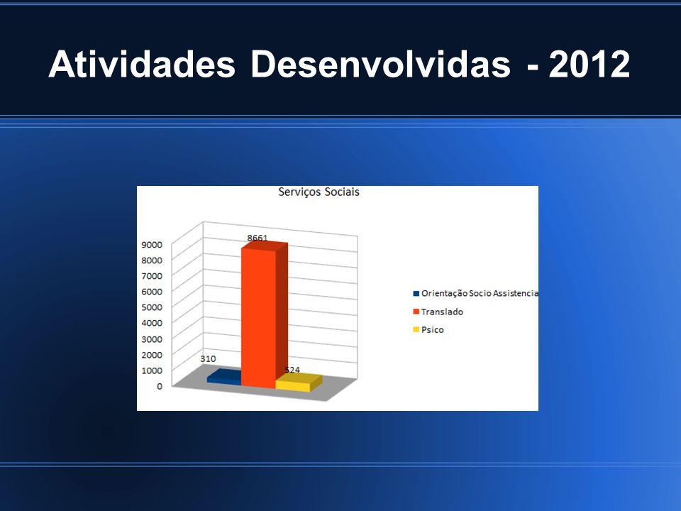 Atividades Desenvolvidas - 2012