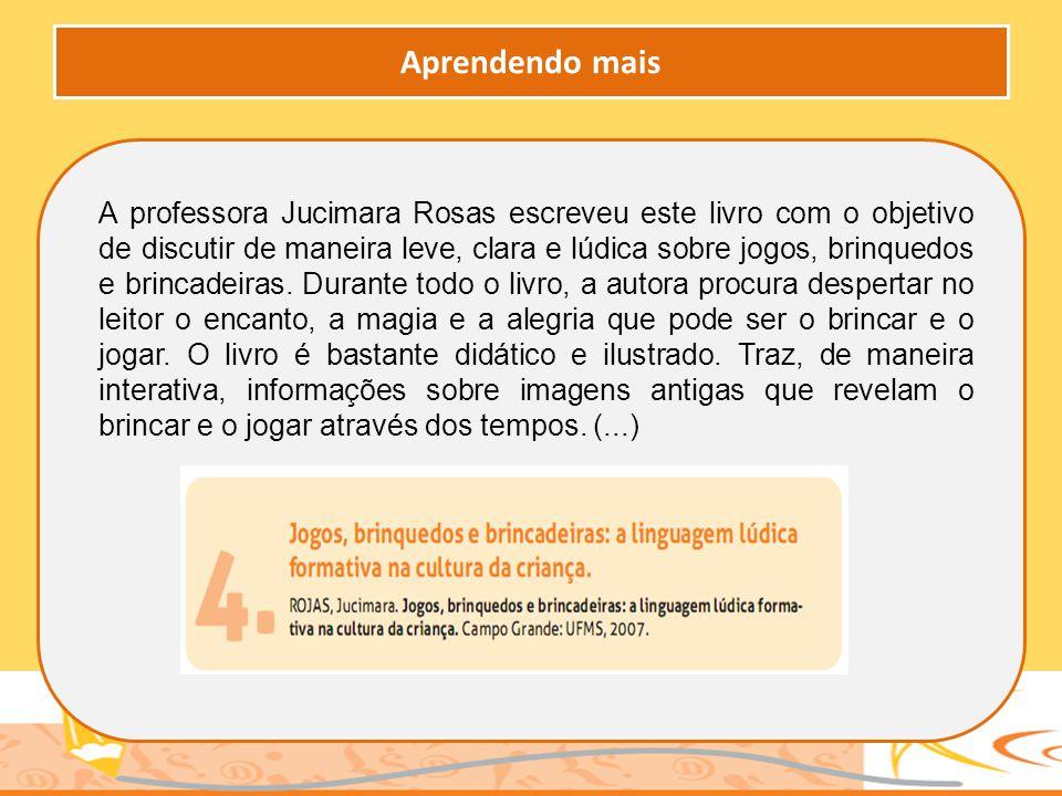A professora Jucimara Rosas escreveu este livro com o objetivo de discutir de maneira leve, clara e lúdica sobre jogos, brinquedos e brincadeiras. Dur