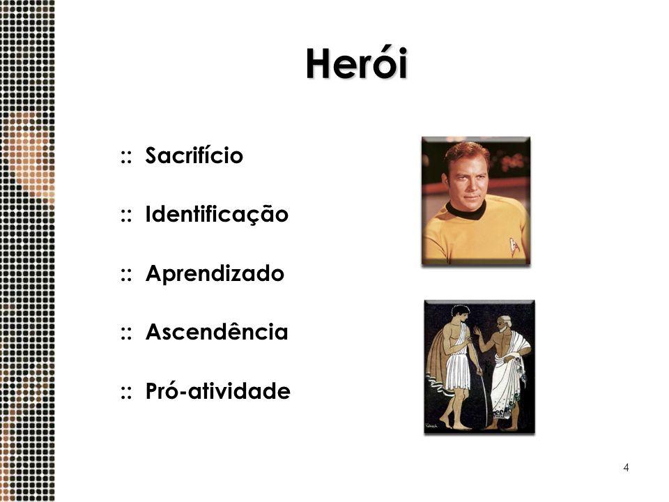 4 Herói ::Sacrifício ::Identificação ::Aprendizado ::Ascendência ::Pró-atividade