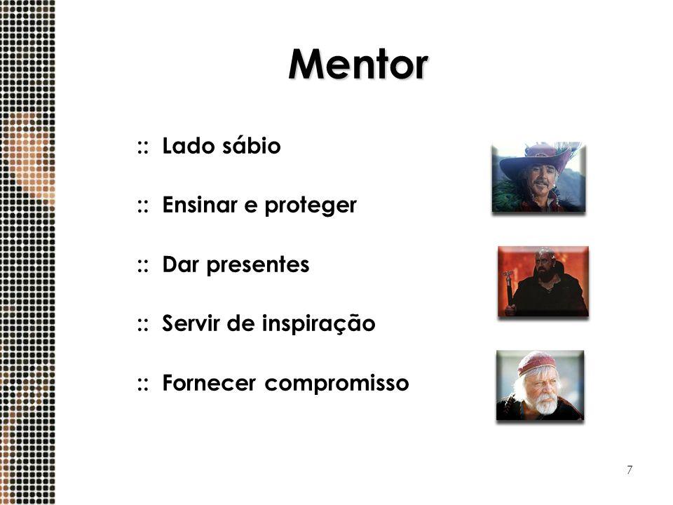 7 Mentor ::Lado sábio ::Ensinar e proteger ::Dar presentes ::Servir de inspiração ::Fornecer compromisso