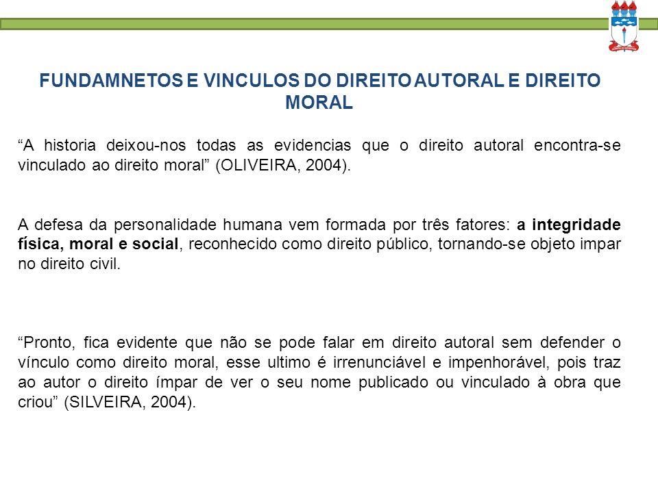 REFERÊNCIAS: OLIVER, Paulo. Direitos autorais da obra literária. Belo Horizonte: Del Rey, 2004.