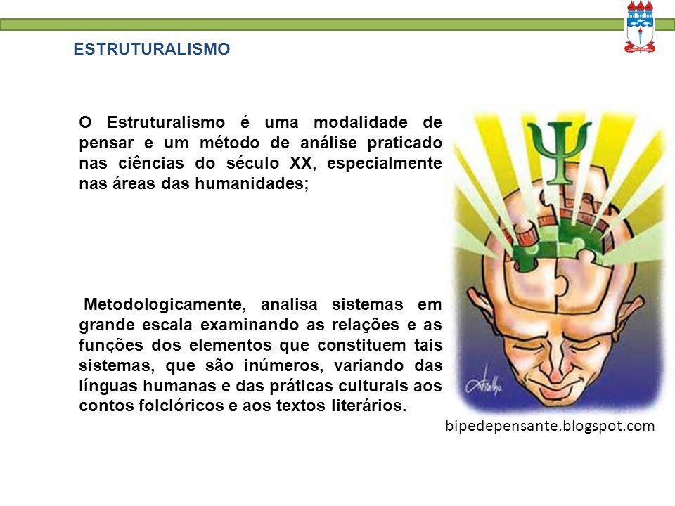 ESTRUTURALISMO O Estruturalismo é uma modalidade de pensar e um método de análise praticado nas ciências do século XX, especialmente nas áreas das hum