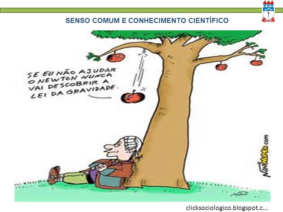 SENSO COMUM E CONHECIMENTO CIENTÍFICO clicksociologico.blogspot.c...