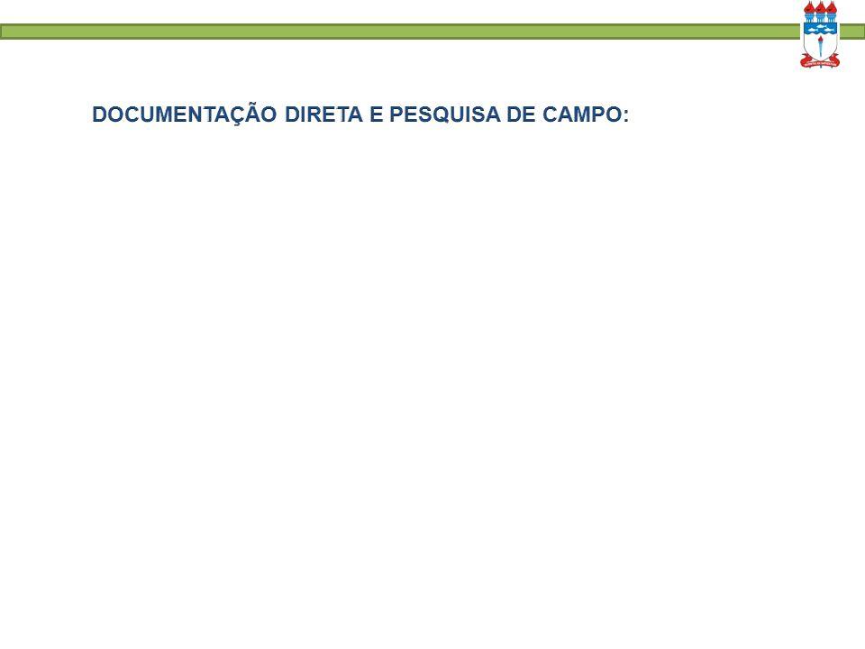 PESQUISA DE CAMPO: Vantagens; Desvantagens.