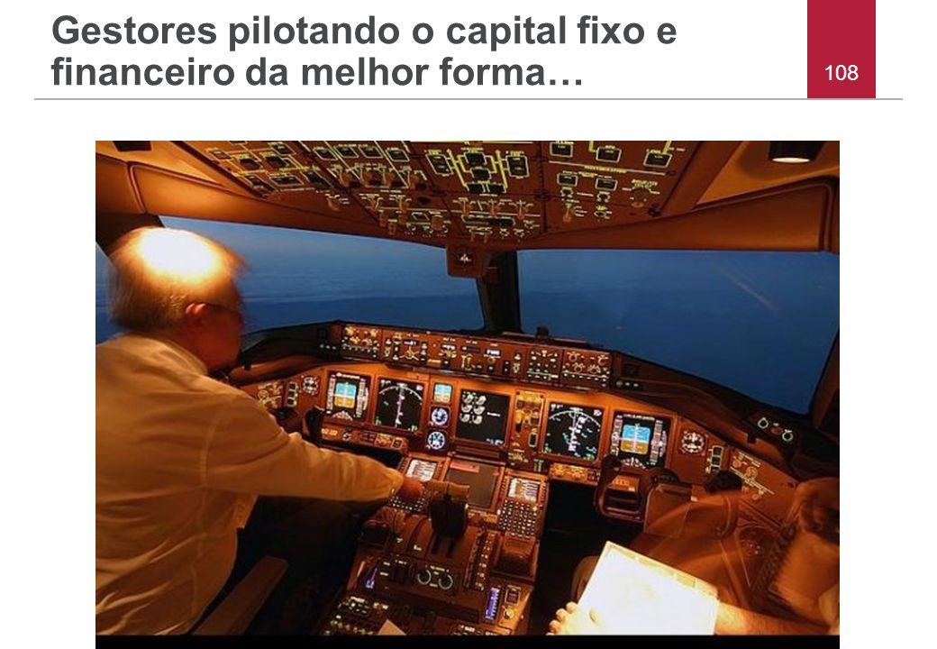 Gestores pilotando o capital fixo e financeiro da melhor forma… 108