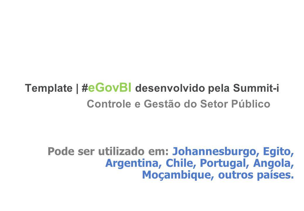 5 Template | # eGovBI desenvolvido pela Summit-i Pode ser utilizado em: Johannesburgo, Egito, Argentina, Chile, Portugal, Angola, Moçambique, outros p