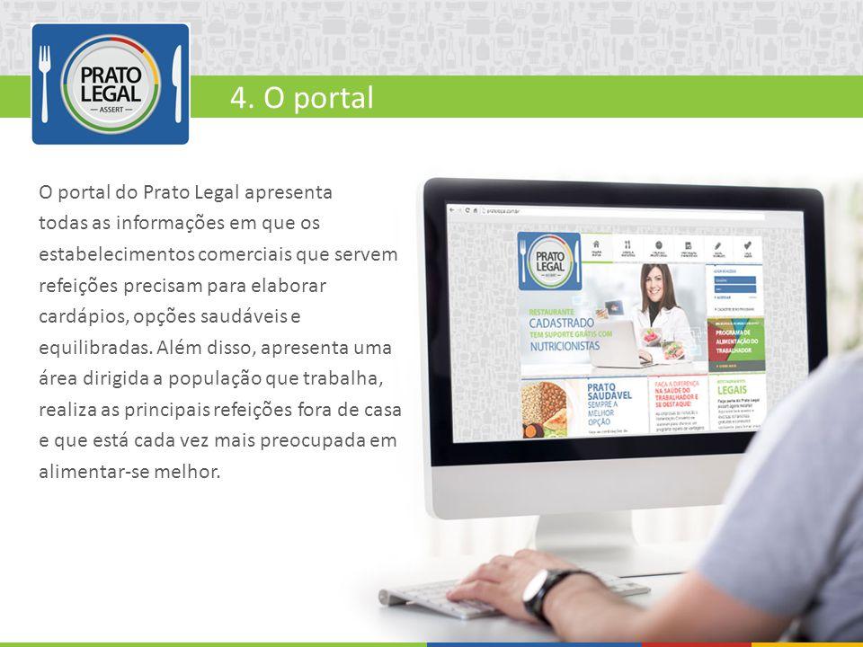 O portal do Prato Legal apresenta todas as informações em que os estabelecimentos comerciais que servem refeições precisam para elaborar cardápios, op