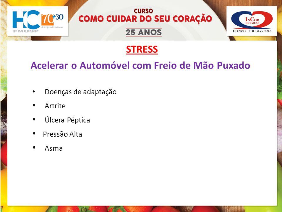 STRESS Acelerar o Automóvel com Freio de Mão Puxado Doenças de adaptação Artrite Úlcera Péptica Pressão Alta Asma