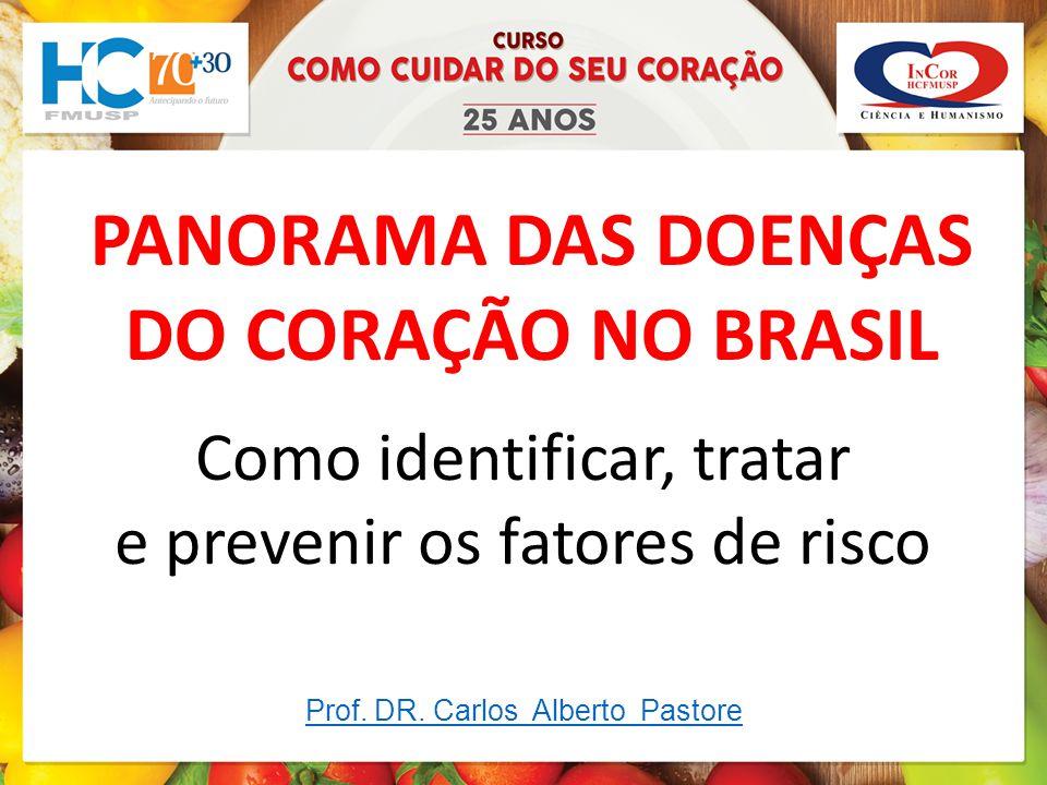 PANORAMA DAS DOENÇAS DO CORAÇÃO NO BRASIL Como identificar, tratar e prevenir os fatores de risco Prof.