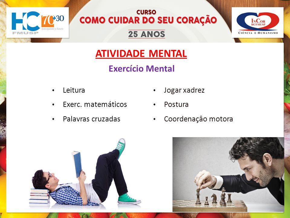 ATIVIDADE MENTAL Leitura Exerc.
