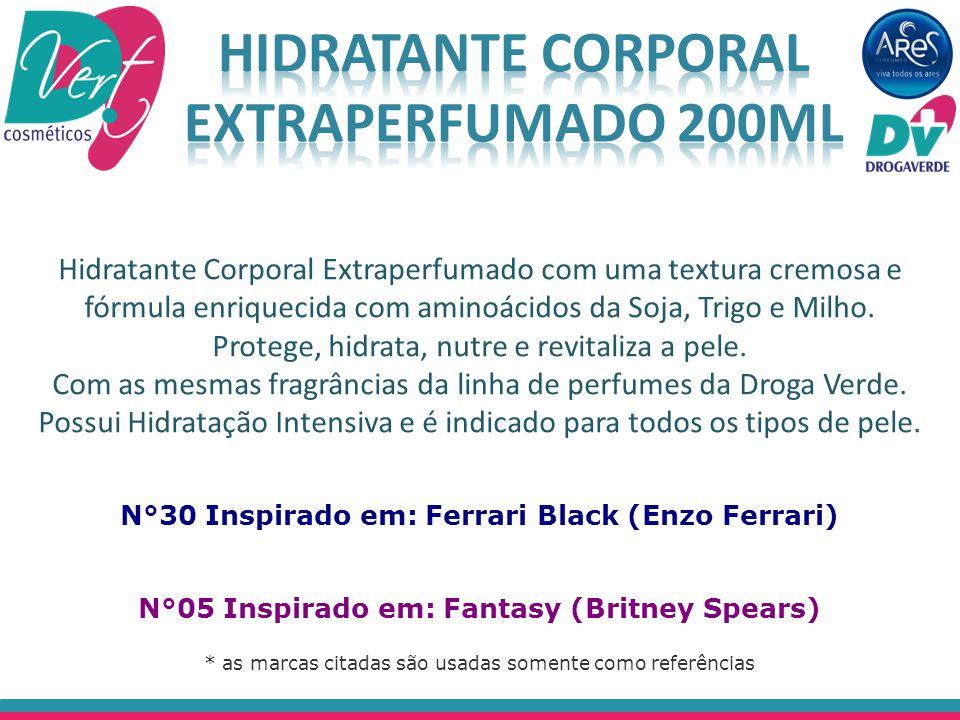 Hidratante Corporal Extraperfumado com uma textura cremosa e fórmula enriquecida com aminoácidos da Soja, Trigo e Milho. Protege, hidrata, nutre e rev