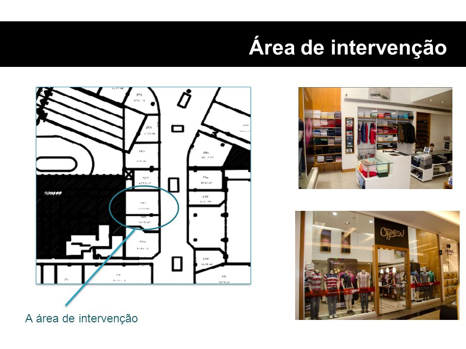 Área de intervenção A área de intervenção