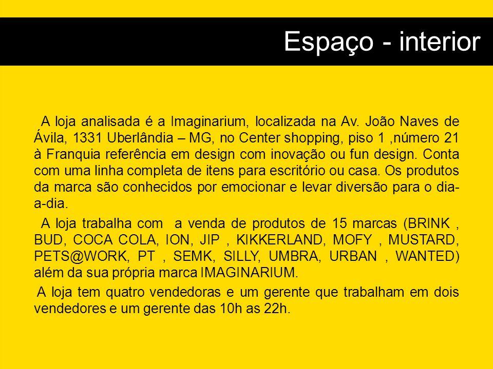 A loja analisada é a Imaginarium, localizada na Av.