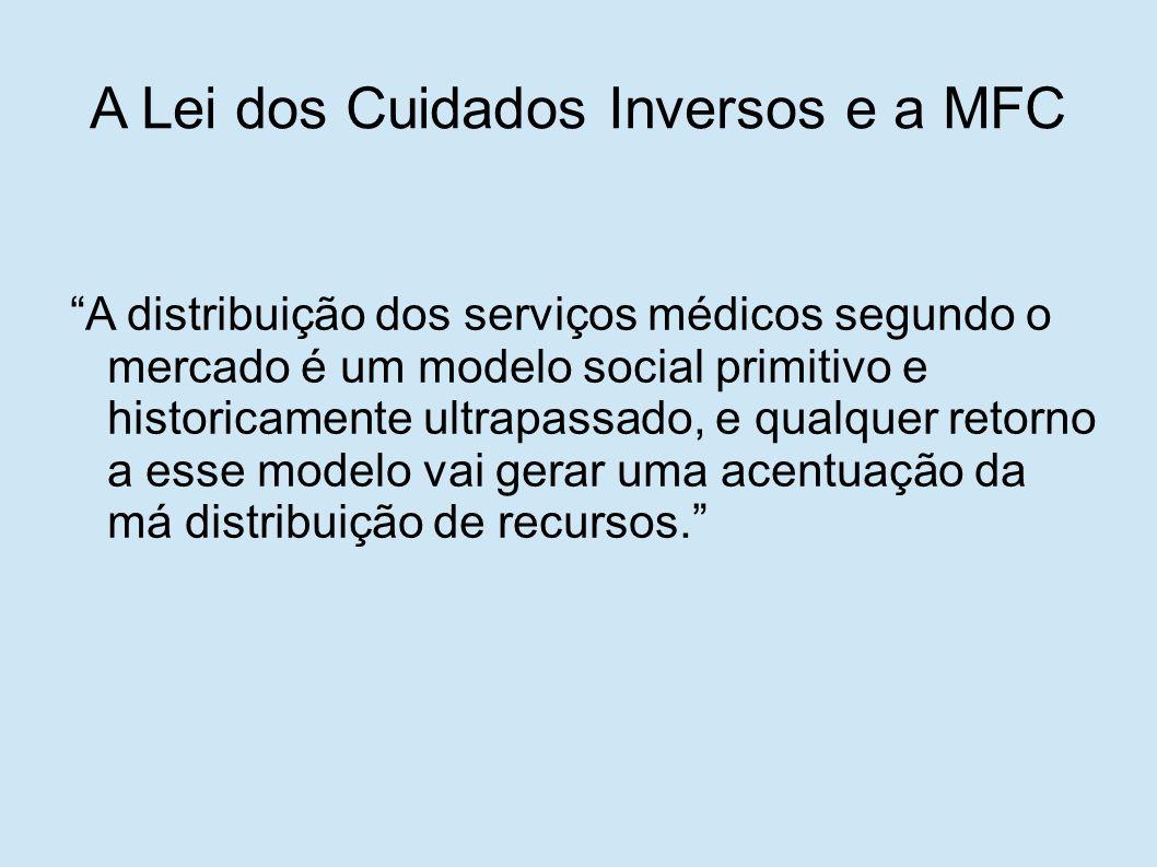 """""""A distribuição dos serviços médicos segundo o mercado é um modelo social primitivo e historicamente ultrapassado, e qualquer retorno a esse modelo va"""