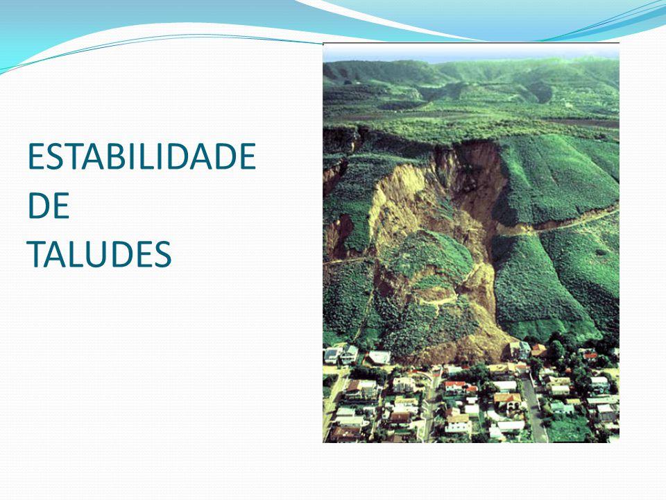 talude artificial (talude de aterro) Introdução: Taludes são quaisquer superfícies inclinadas que limitam um maciço de terra, de rocha ou de terra e rocha.