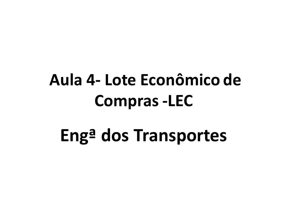 Aula 4- Lote Econômico de Compras -LEC Engª dos Transportes