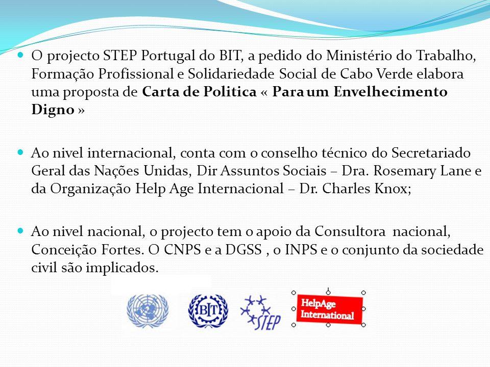 O projecto STEP Portugal do BIT, a pedido do Ministério do Trabalho, Formação Profissional e Solidariedade Social de Cabo Verde elabora uma proposta d