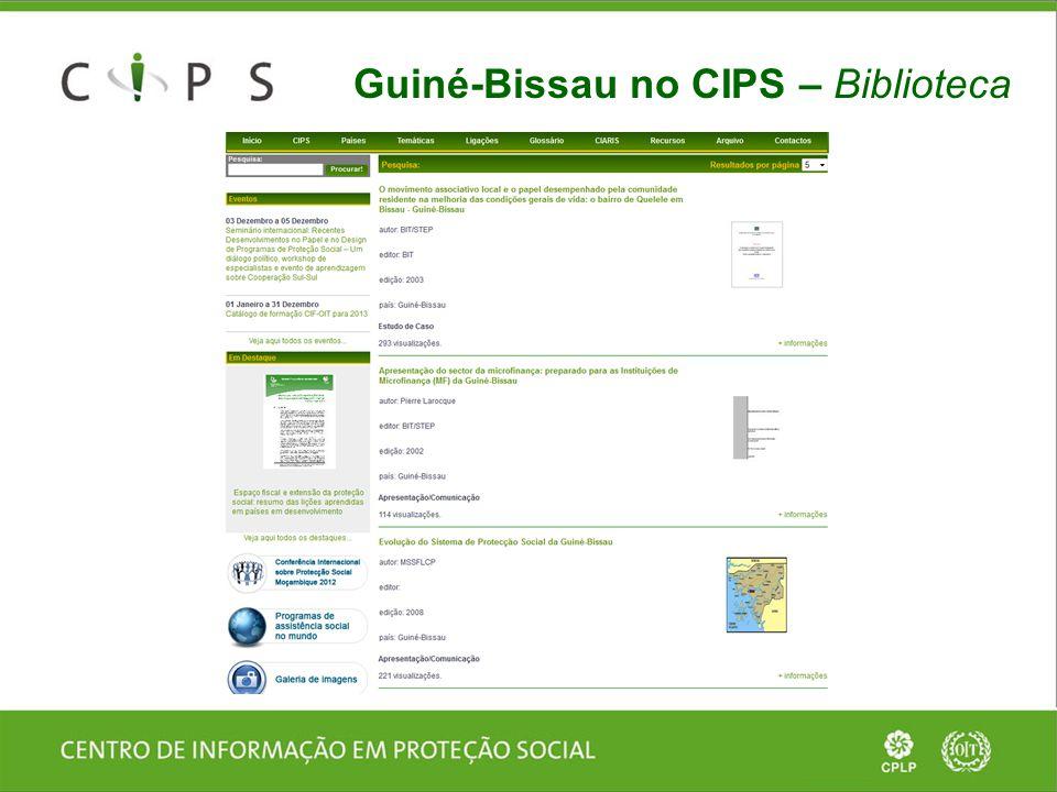 Guiné-Bissau no CIPS – Biblioteca