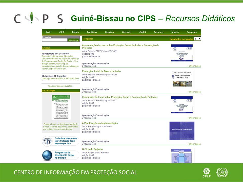 Guiné-Bissau no CIPS – Recursos Didáticos
