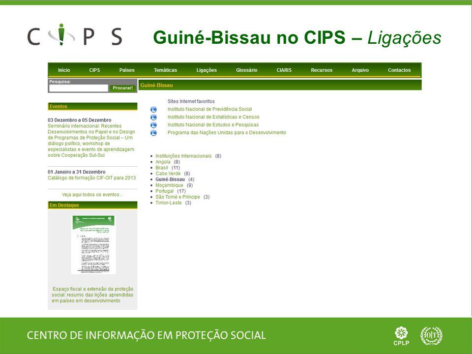 Guiné-Bissau no CIPS – Ligações