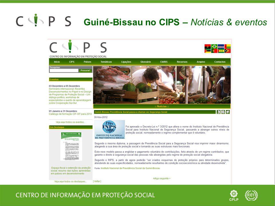 Guiné-Bissau no CIPS – Notícias & eventos