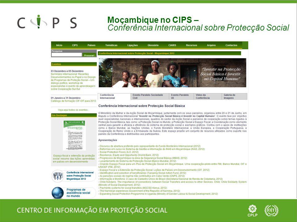 Moçambique no CIPS – Conferência Internacional sobre Protecção Social