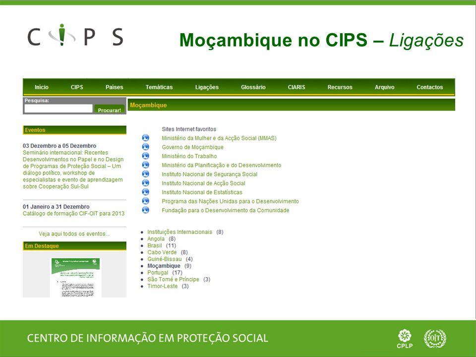 Moçambique no CIPS – Ligações