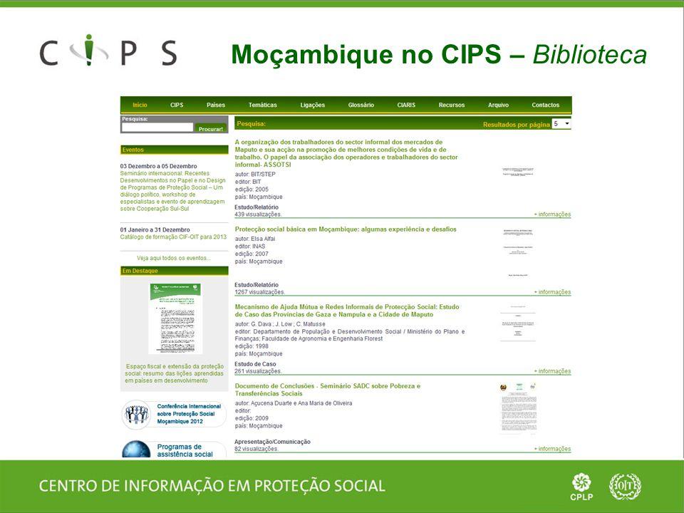 Moçambique no CIPS – Biblioteca