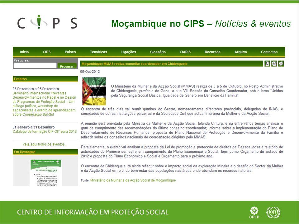 Moçambique no CIPS – Página do país