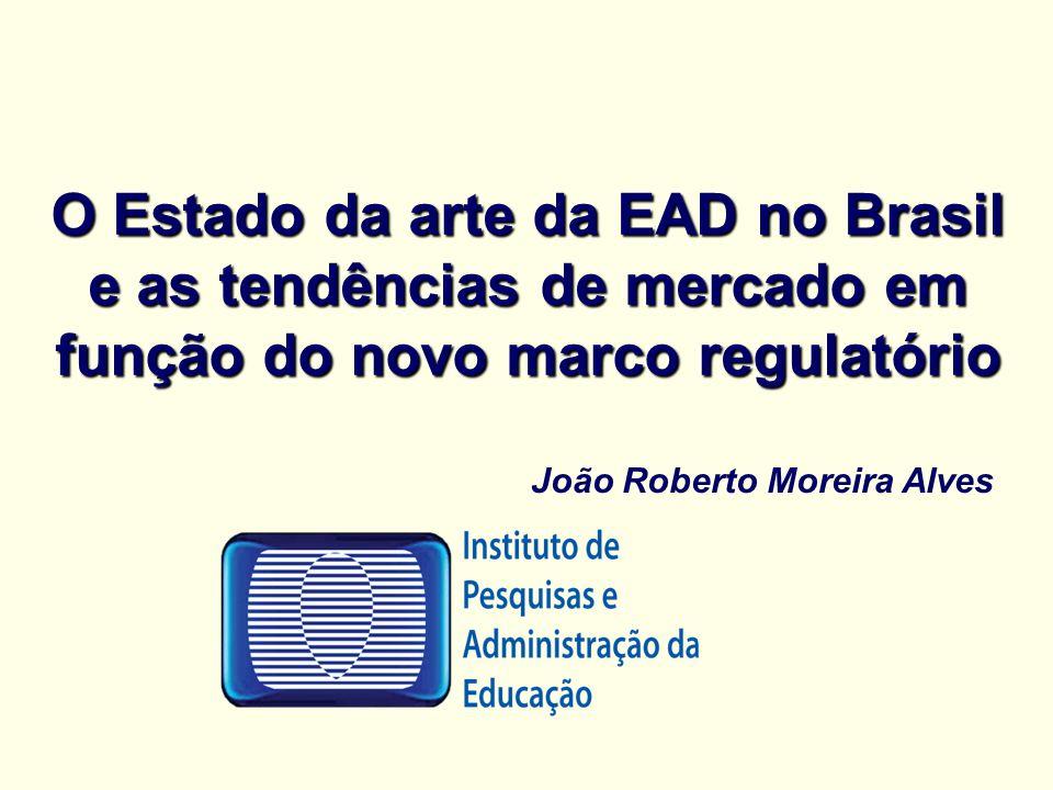 O Estado da arte da EAD no Brasil e as tendências de mercado em função do novo marco regulatório João Roberto Moreira Alves