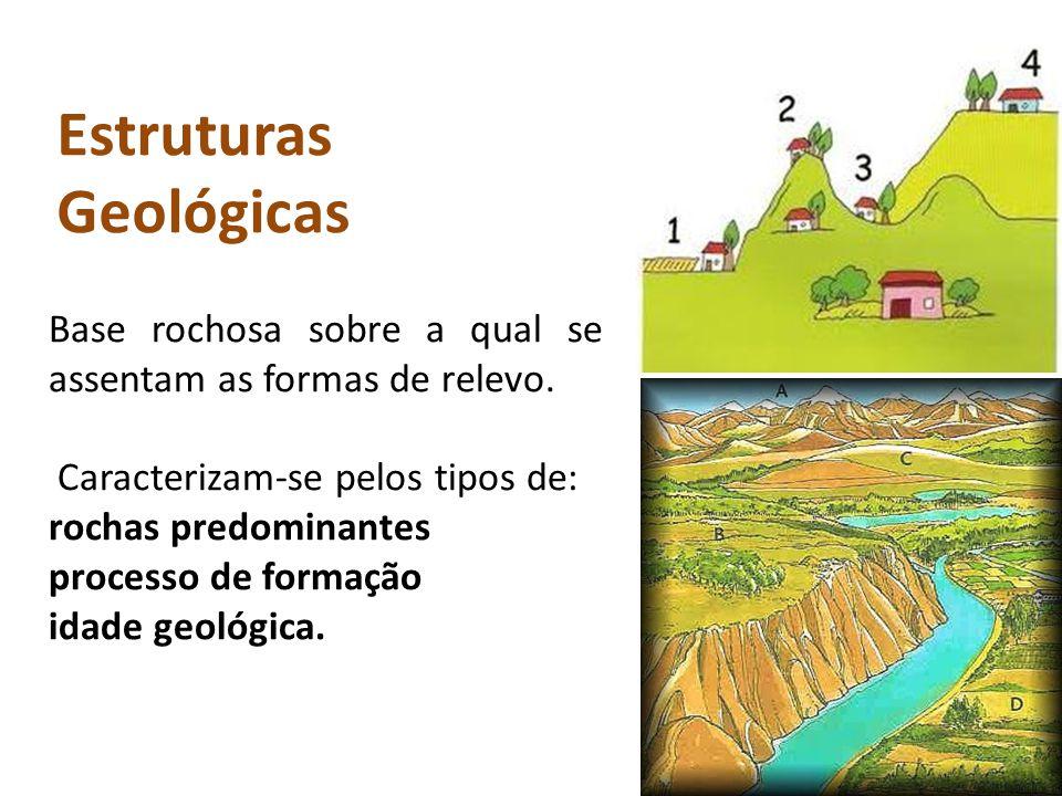 Base rochosa sobre a qual se assentam as formas de relevo.