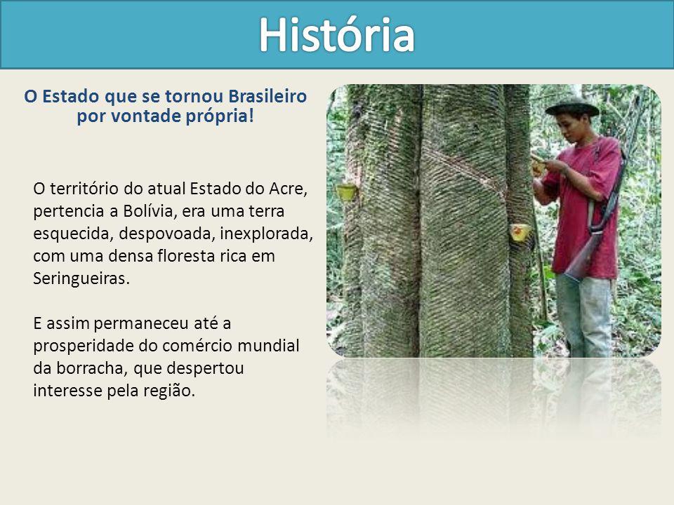O Estado que se tornou Brasileiro por vontade própria! O território do atual Estado do Acre, pertencia a Bolívia, era uma terra esquecida, despovoada,
