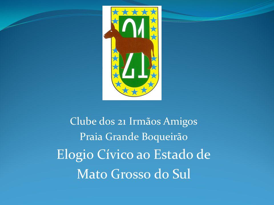 Clube dos 21 Irmãos Amigos Praia Grande Boqueirão Elogio Cívico ao Estado de Mato Grosso do Sul