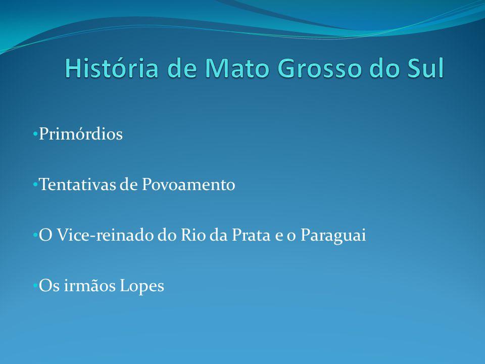 Primórdios Tentativas de Povoamento O Vice-reinado do Rio da Prata e o Paraguai Os irmãos Lopes