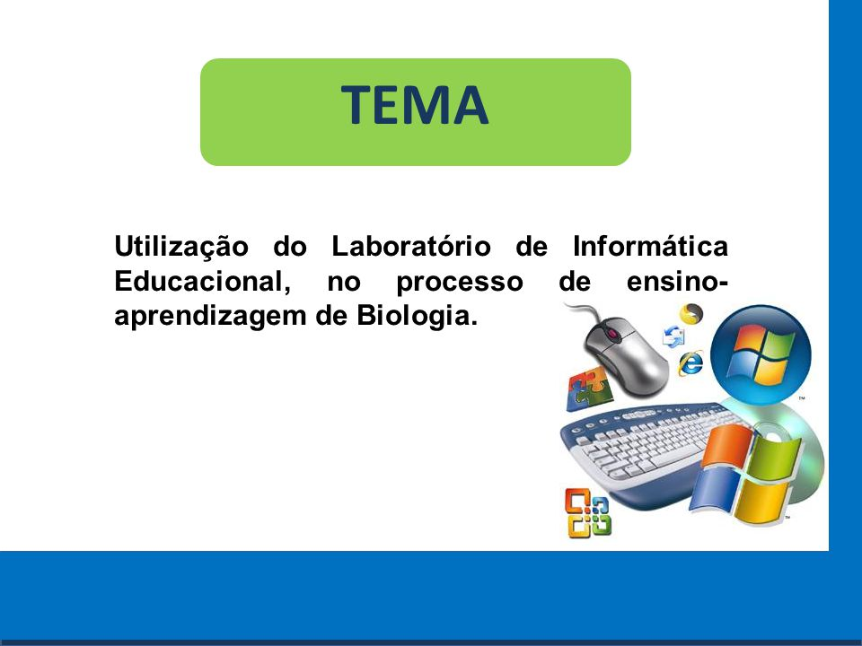 Cursos a Distância em todo o Brasil www.institutoprominas.com.br 0800 283 8380 TEMA Utilização do Laboratório de Informática Educacional, no processo