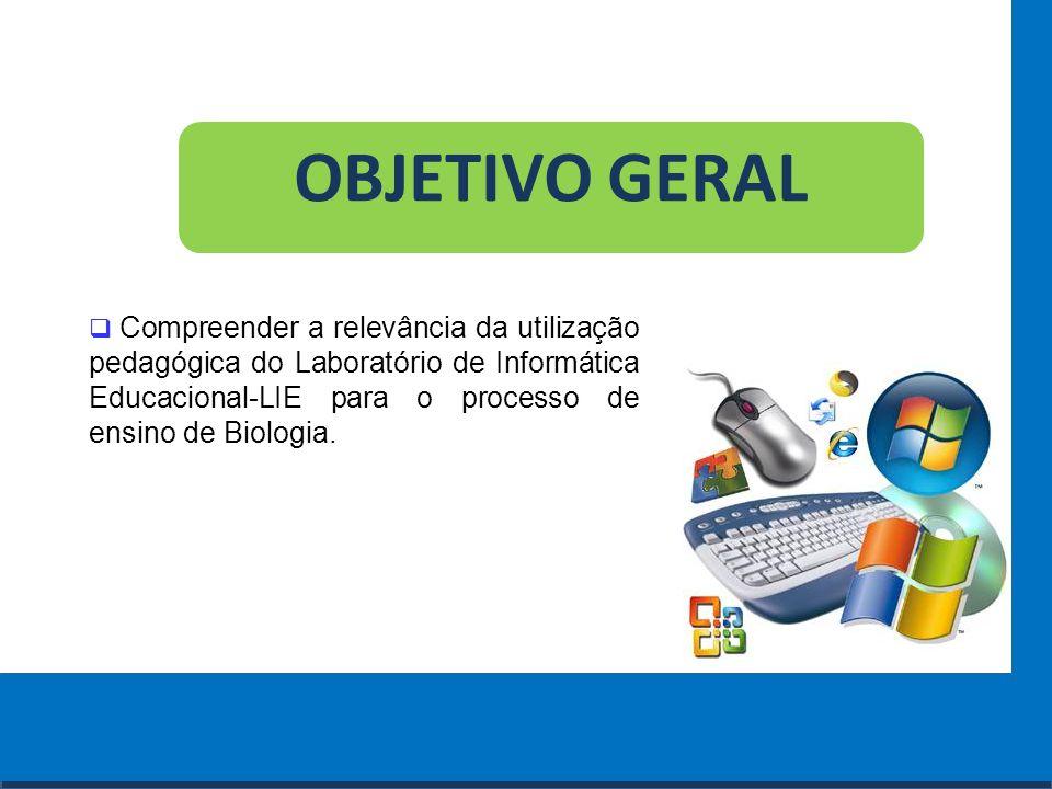 Cursos a Distância em todo o Brasil www.institutoprominas.com.br 0800 283 8380 OBJETIVOS ESPECÍFICOS  Verificar se os professores de Biologia sabem utilizar o Laboratório de Informática Educacional.