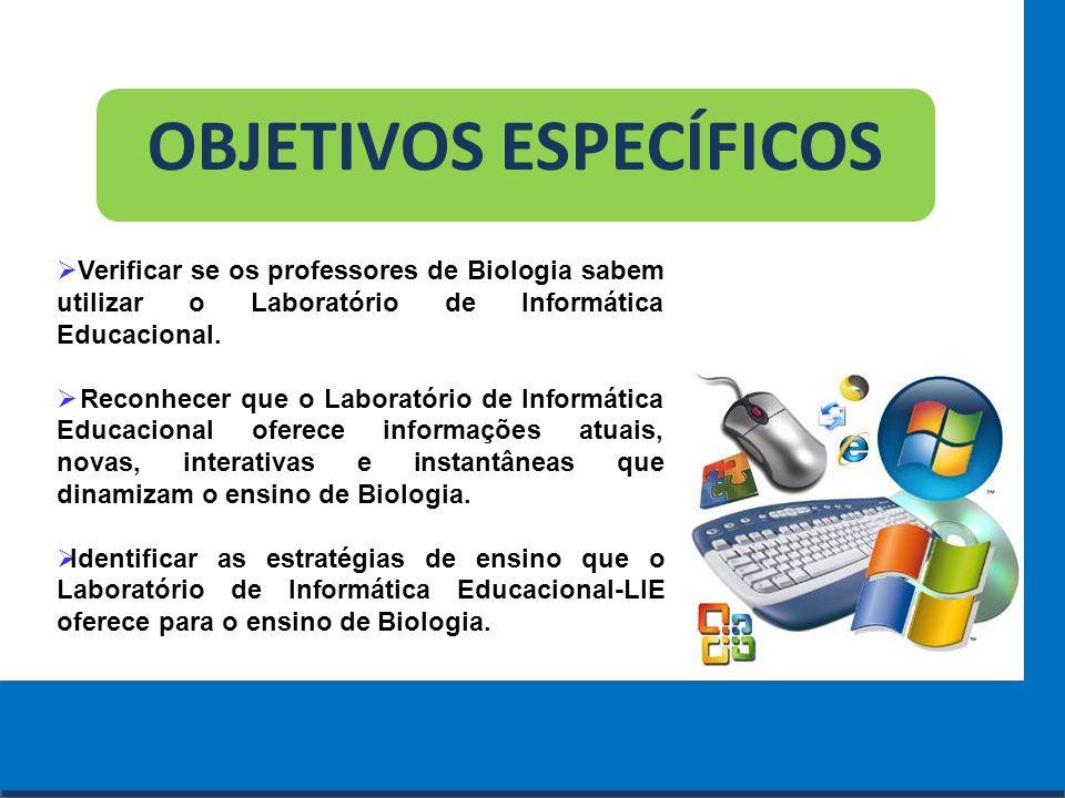 Cursos a Distância em todo o Brasil www.institutoprominas.com.br 0800 283 8380 OBJETIVOS ESPECÍFICOS  Verificar se os professores de Biologia sabem u