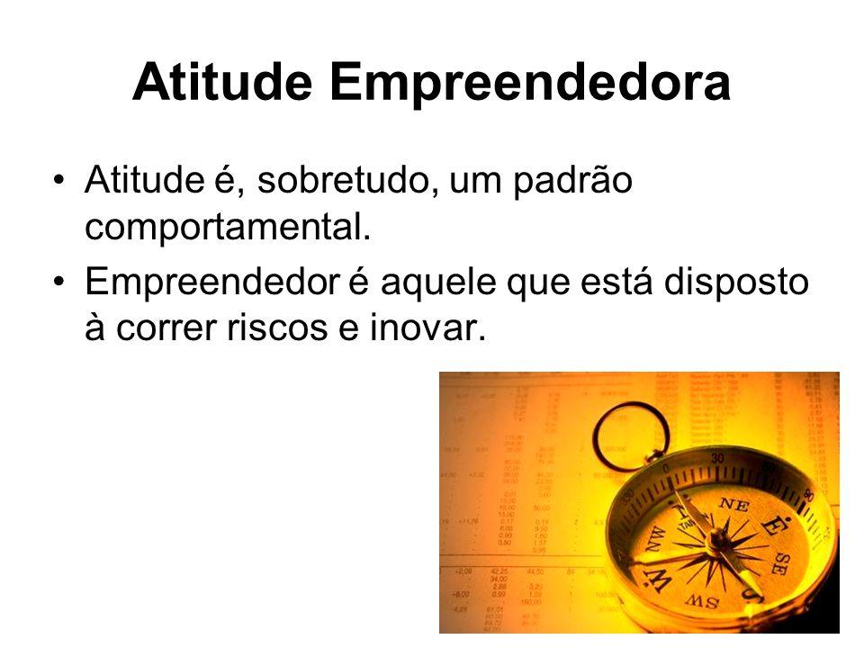 Atitude Empreendedora Atitude é, sobretudo, um padrão comportamental.