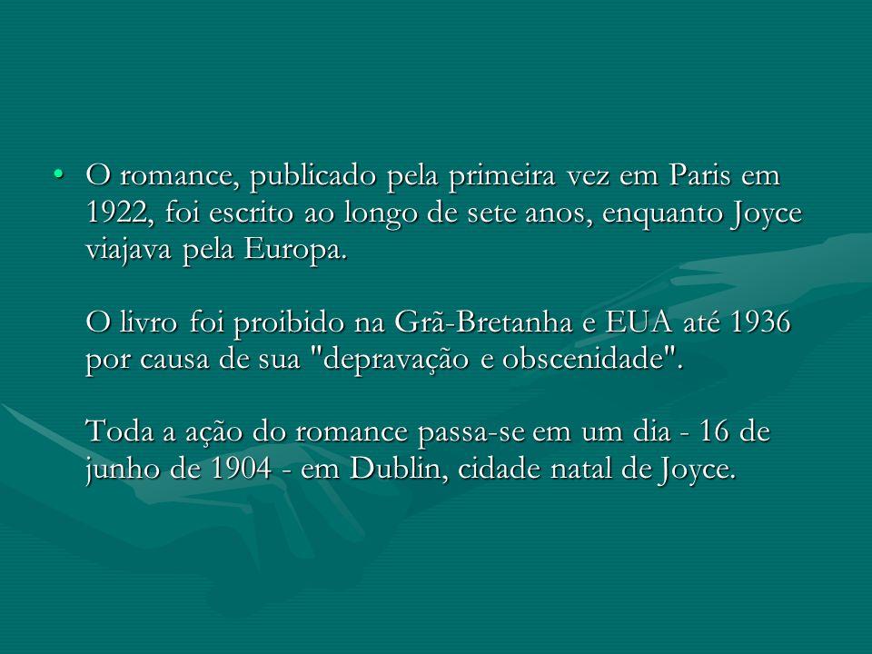 O romance, publicado pela primeira vez em Paris em 1922, foi escrito ao longo de sete anos, enquanto Joyce viajava pela Europa. O livro foi proibido n