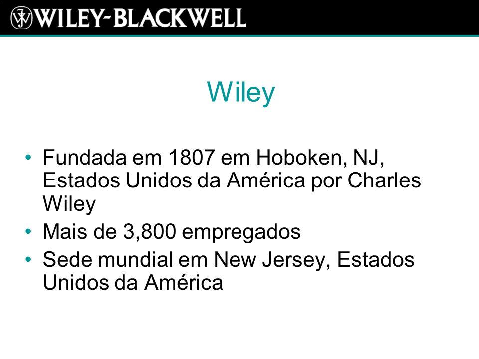 Blackwell Fundada em 1926 em Oxford, Inglaterra por Sir Basil Blackwell Mais de 1,100 empregados Sede mundial em Oxford, Inglaterra