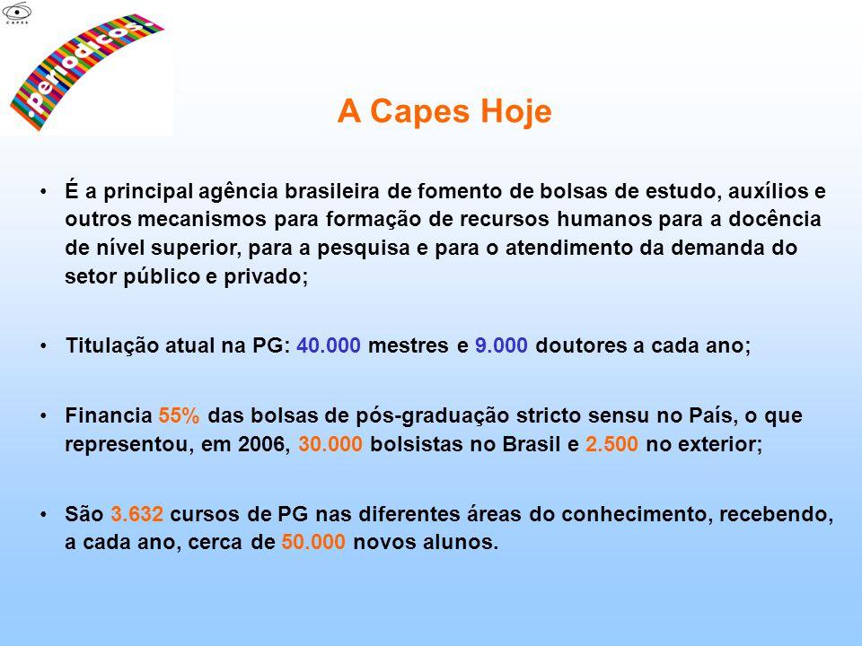 A Capes Hoje É a principal agência brasileira de fomento de bolsas de estudo, auxílios e outros mecanismos para formação de recursos humanos para a do