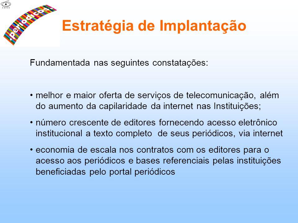 Fundamentada nas seguintes constatações: melhor e maior oferta de serviços de telecomunicação, além do aumento da capilaridade da internet nas Institu