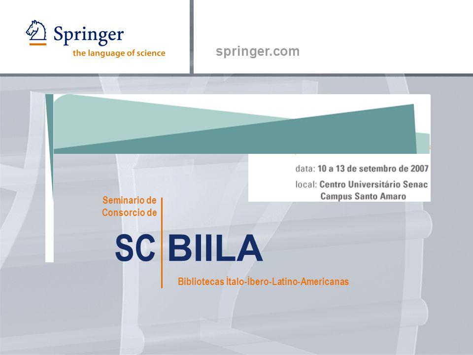 springer.com SC BIILA Seminario de Consorcio de Bibliotecas Ítalo-Íbero-Latino-Americanas