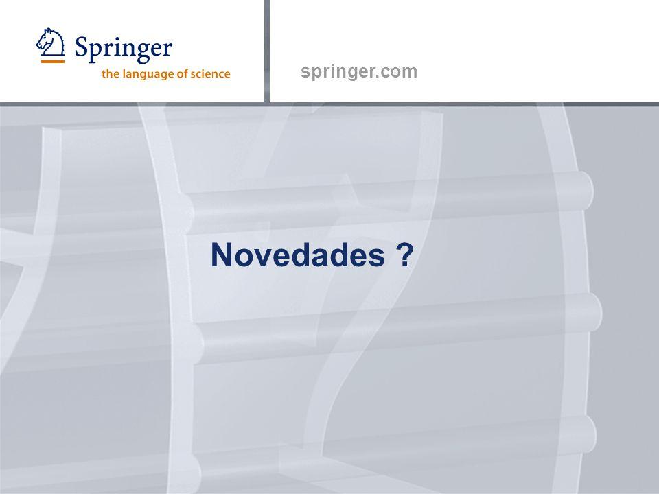 springer.com Novedades