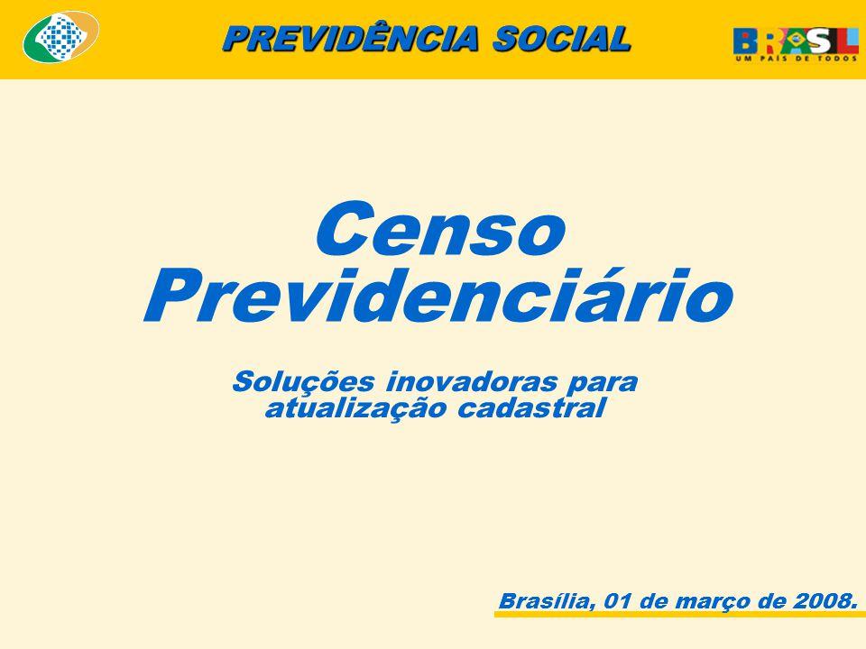 Brasília, 01 de março de 2008. PREVIDÊNCIA SOCIAL março de 2008.