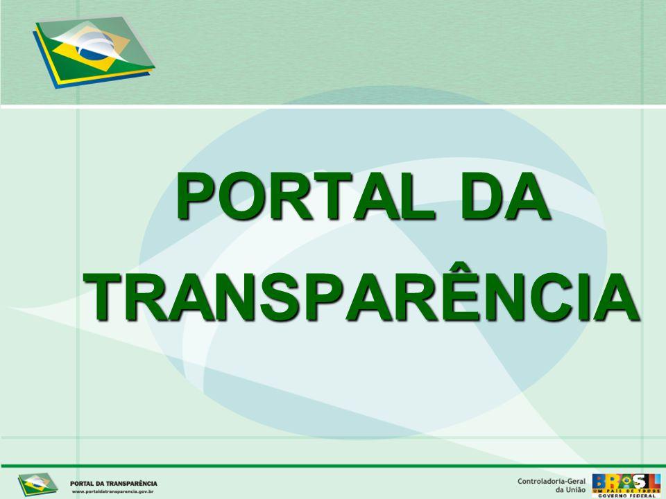 Controladoria-Geral da União PORTAL DA TRANSPARÊNCIA