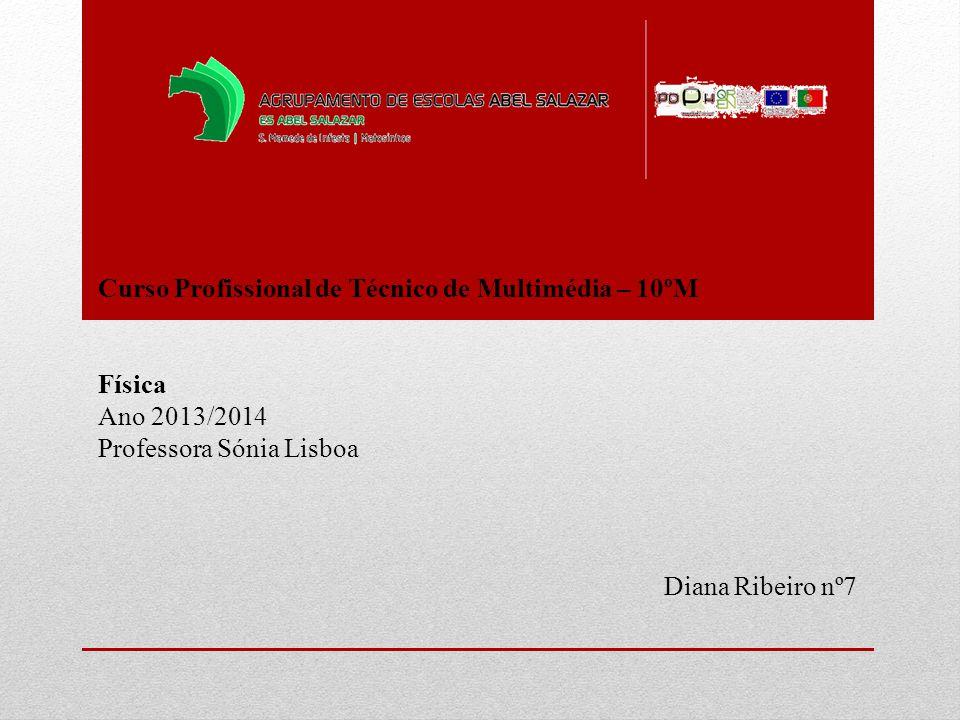 Curso Profissional de Técnico de Multimédia – 10ºM Física Ano 2013/2014 Professora Sónia Lisboa Diana Ribeiro nº7