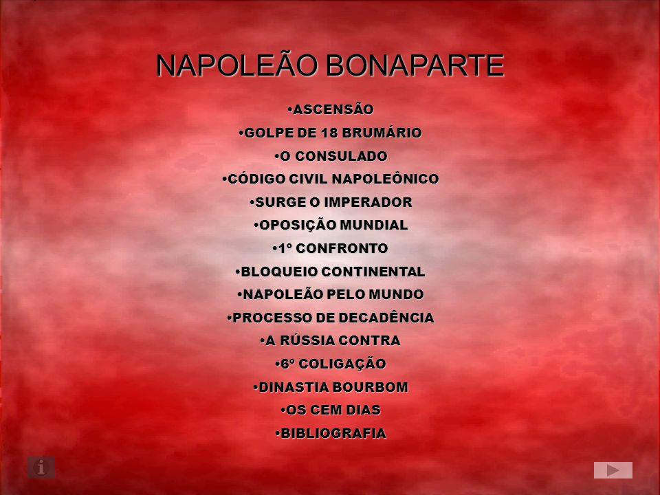 NAPOLEÃO BONAPARTE ASCENSÃOASCENSÃO GOLPE DE 18 BRUMÁRIOGOLPE DE 18 BRUMÁRIO O CONSULADOO CONSULADO CÓDIGO CIVIL NAPOLEÔNICOCÓDIGO CIVIL NAPOLEÔNICO S